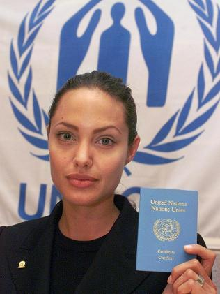 UN Propaganda Asset Angelina Jolie Treks to Syrian Refugee Camp angelina jolie supports UN intevention in Syria